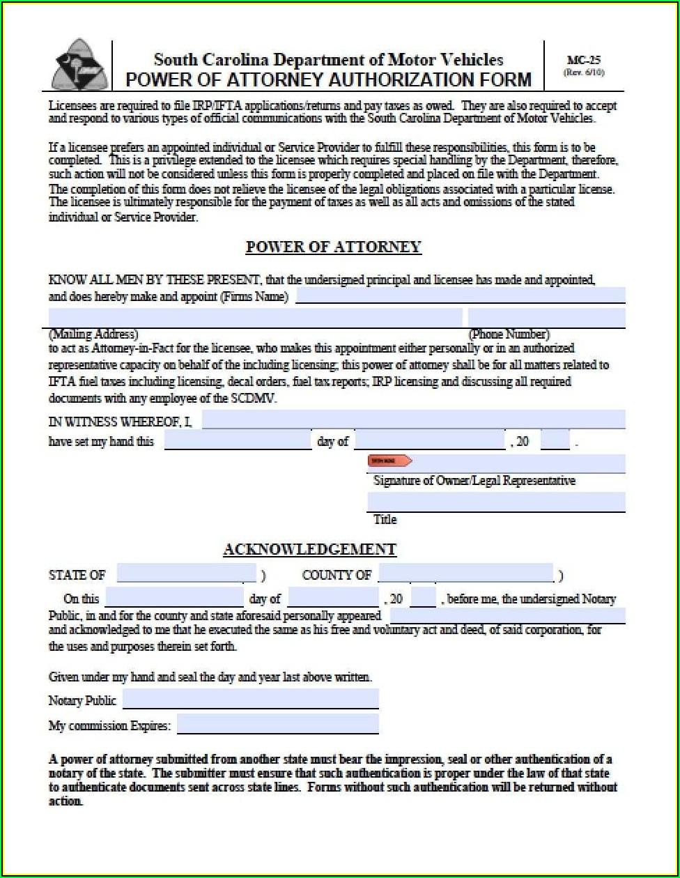 South Carolina Deed Format