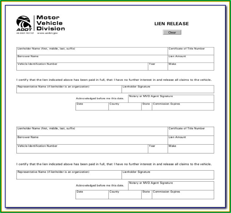 State Of Wisconsin Construction Lien Waiver Form