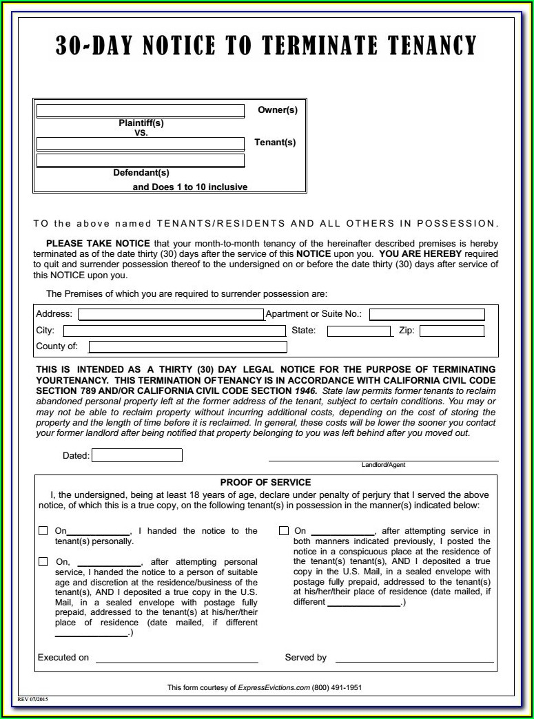 Tenant Eviction Forms Michigan