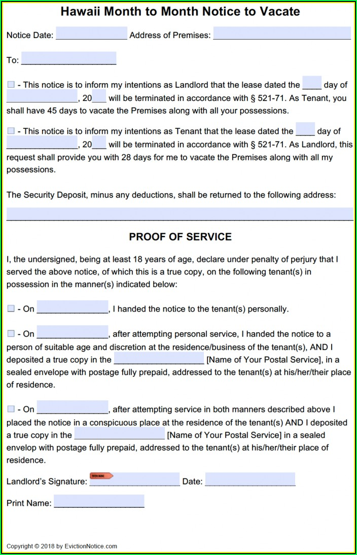 Tenant Eviction Notice Form California