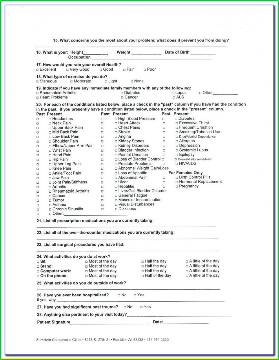 The Joint Chiropractic New Patient Forms