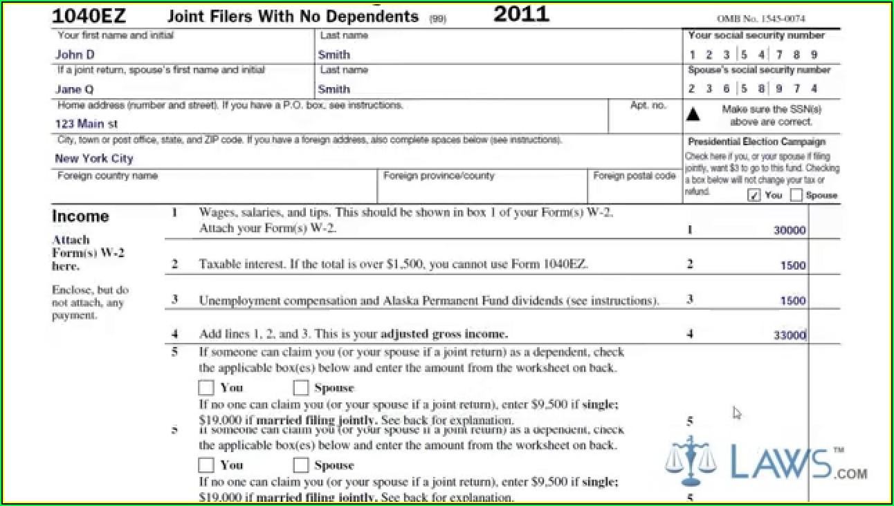 Where To Send 1040ez Form