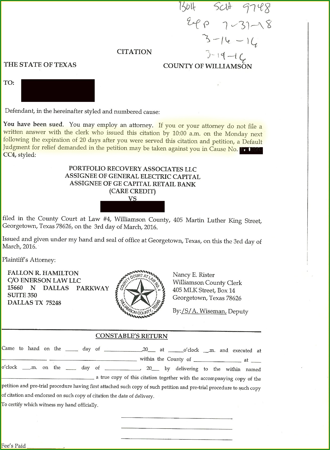 Williamson County Divorce Filing Fees
