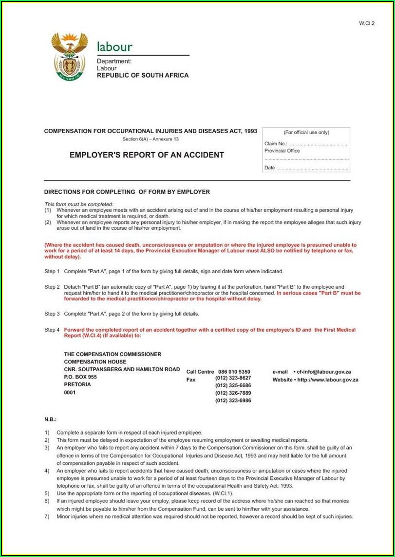 Workmen's Compensation Forms 2019