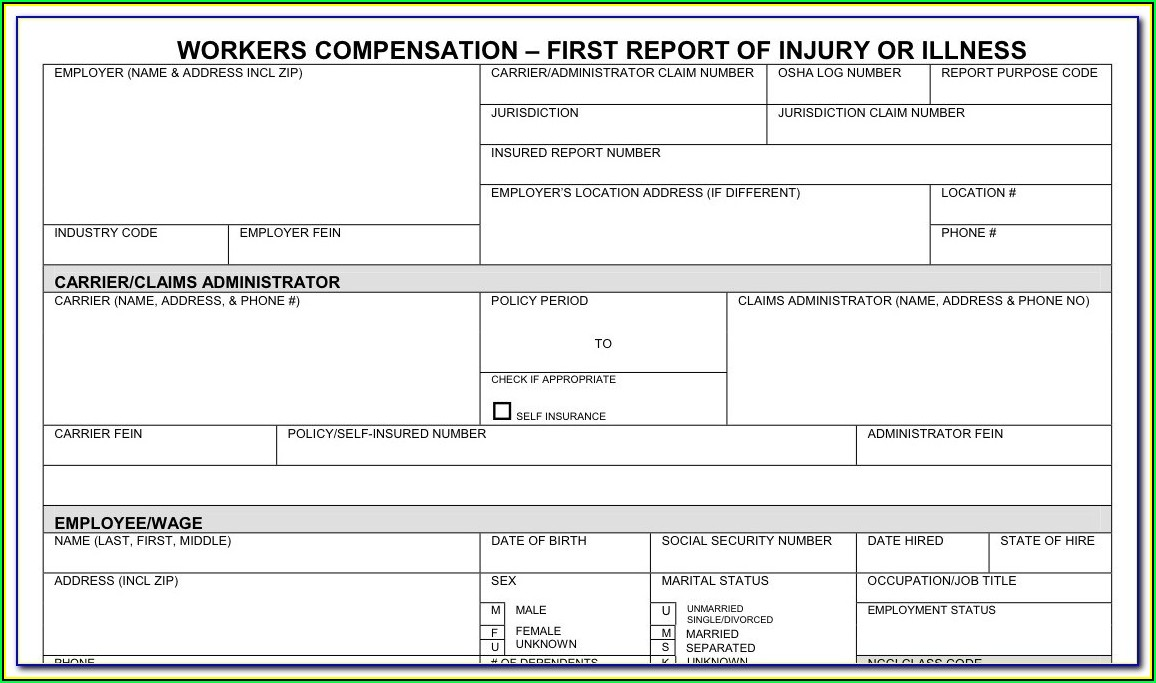 Workmen's Compensation Forms South Africa