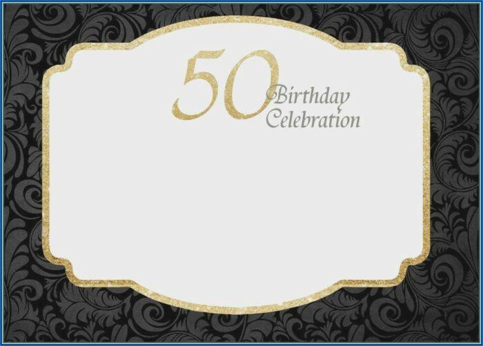 50th Birthday Invitation Templates Microsoft Word Free