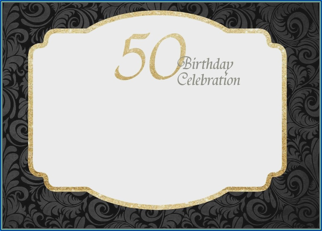 50th Birthday Invitation Templates Microsoft Word Free