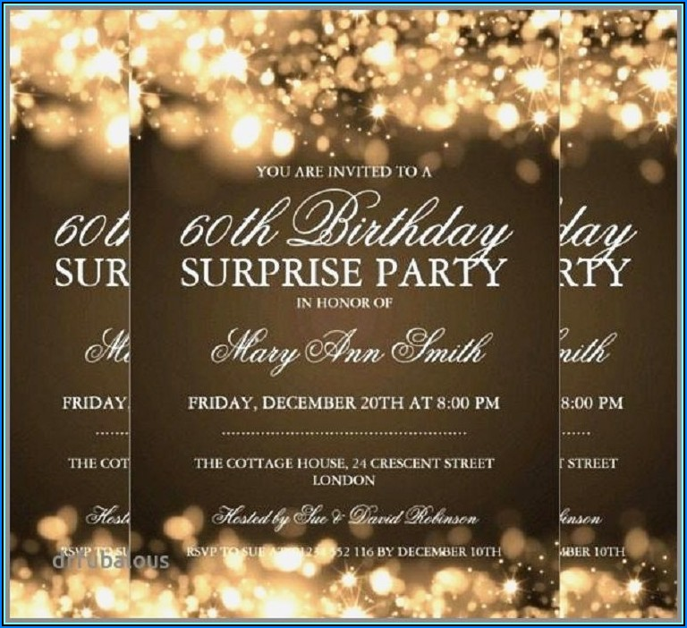 75th Birthday Invitation Card Free Templates