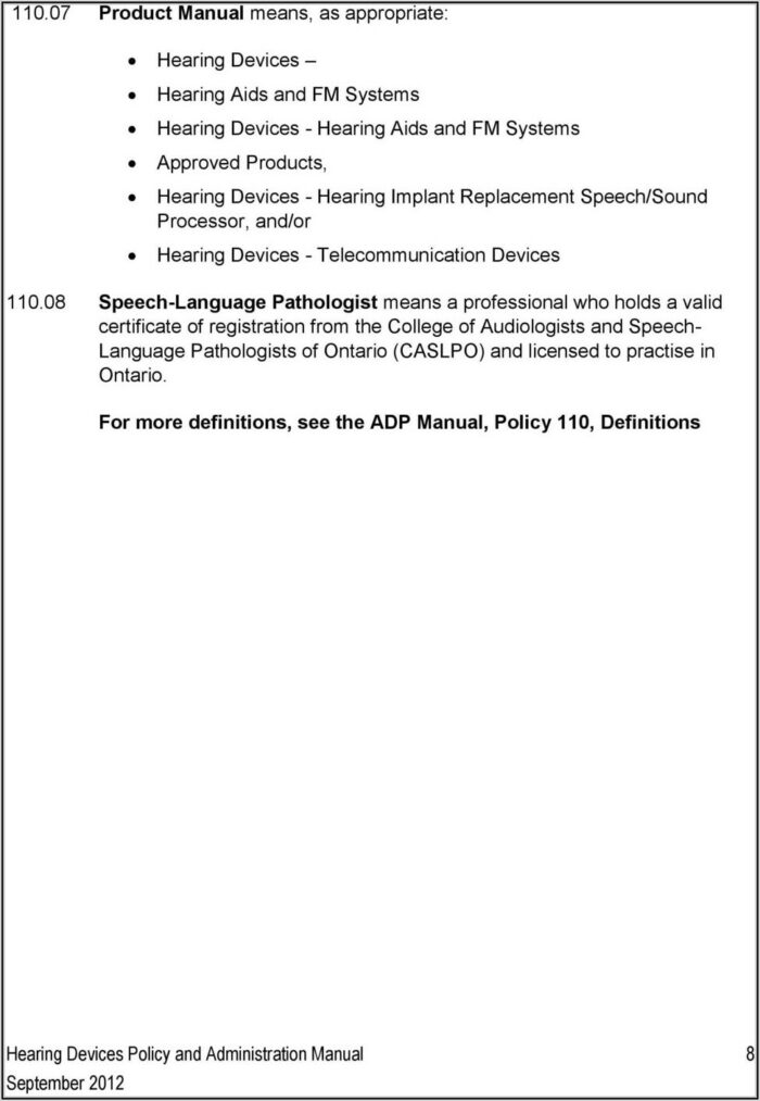 Adp Hearing Devices Form