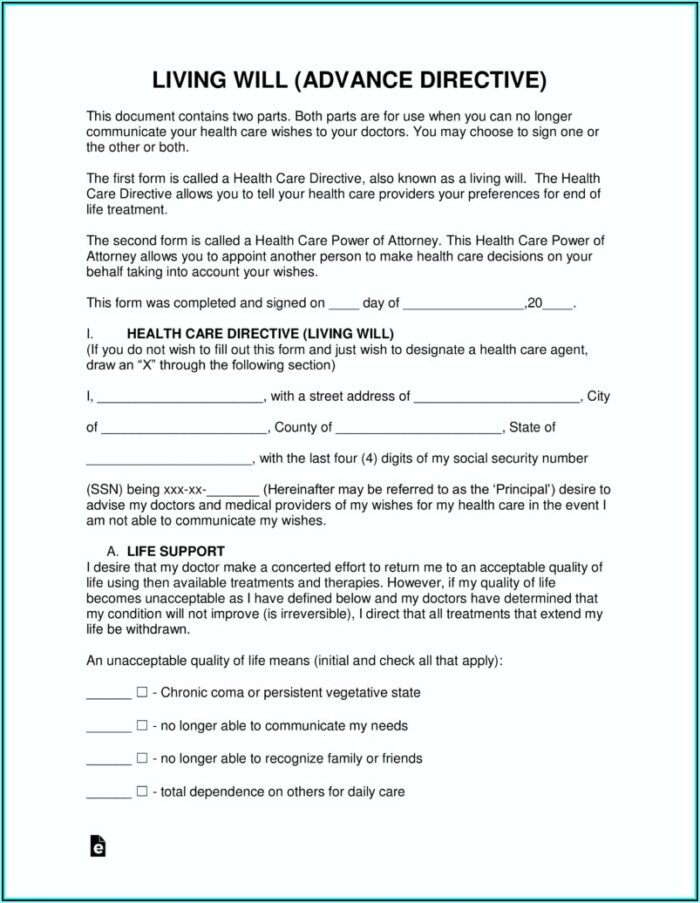 Advance Directives Forms