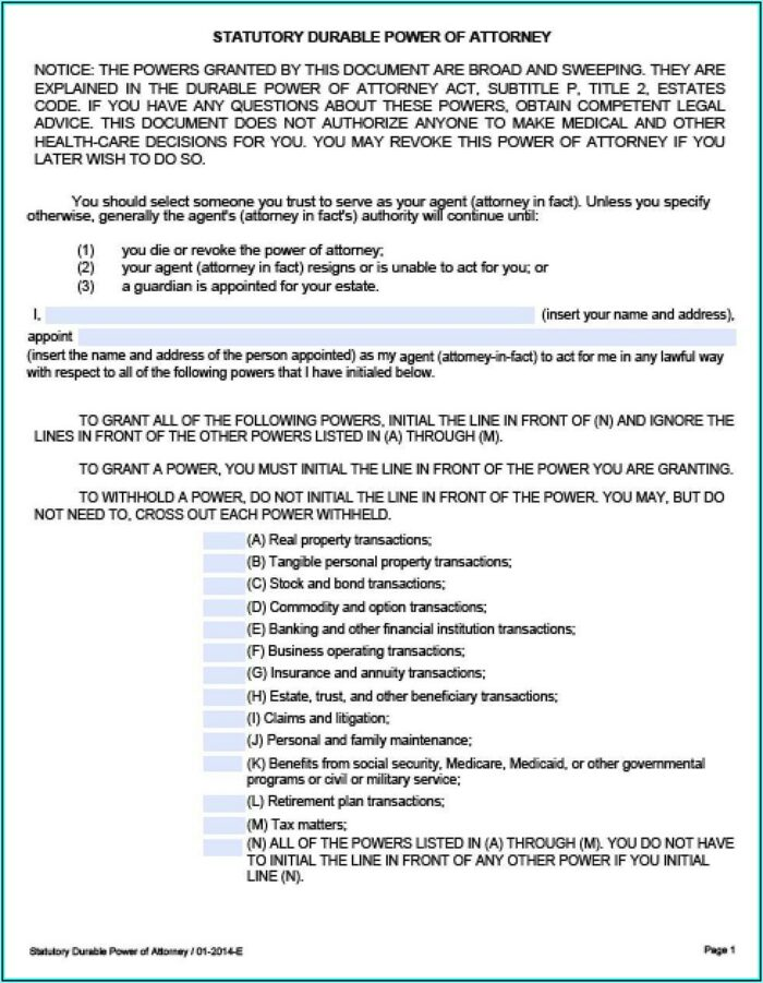 Advance Directives Forms Texas