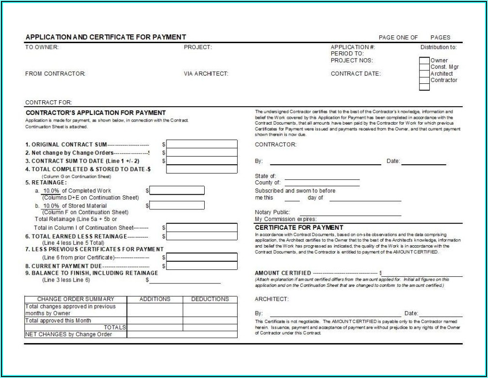 Aia Requisition Form G702