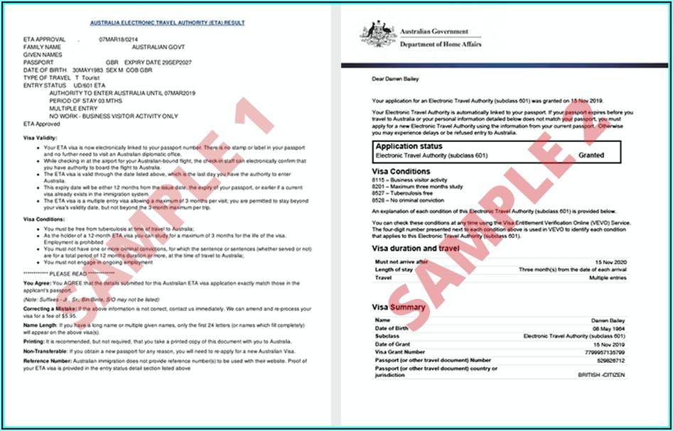 Australia Visa Application Form For Nigerian