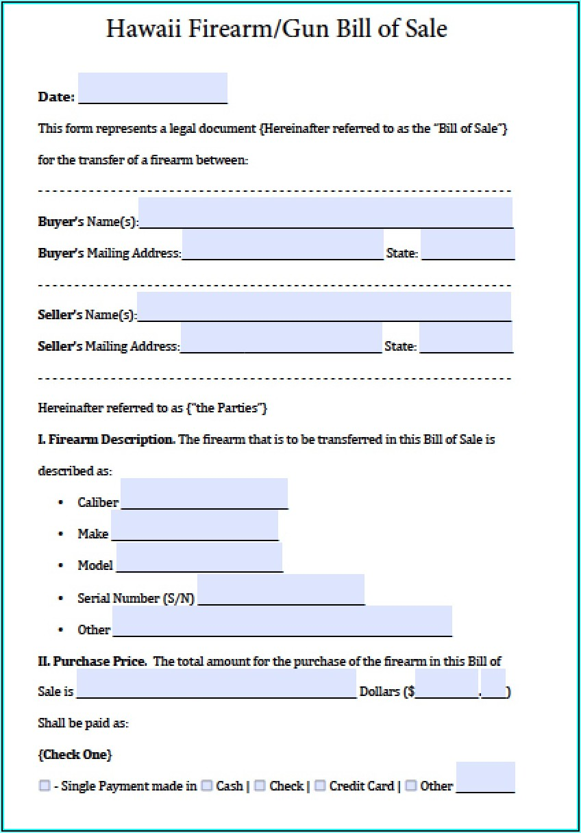 Auto Bill Of Sale Form Texas