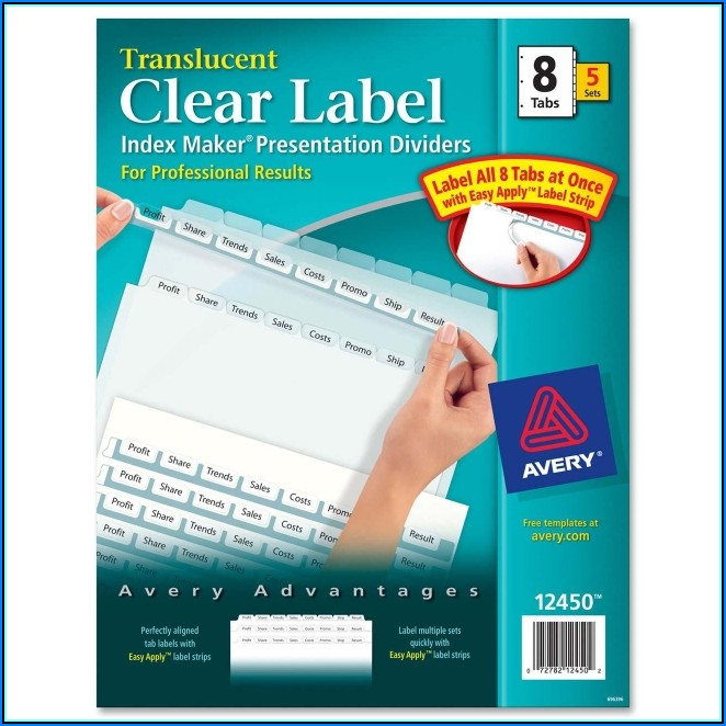 Avery 5 Tab Easy Apply Label Template