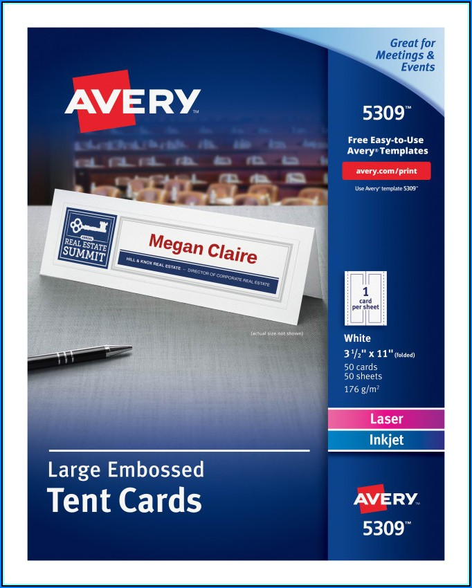 Avery Tent Card Templates 5309