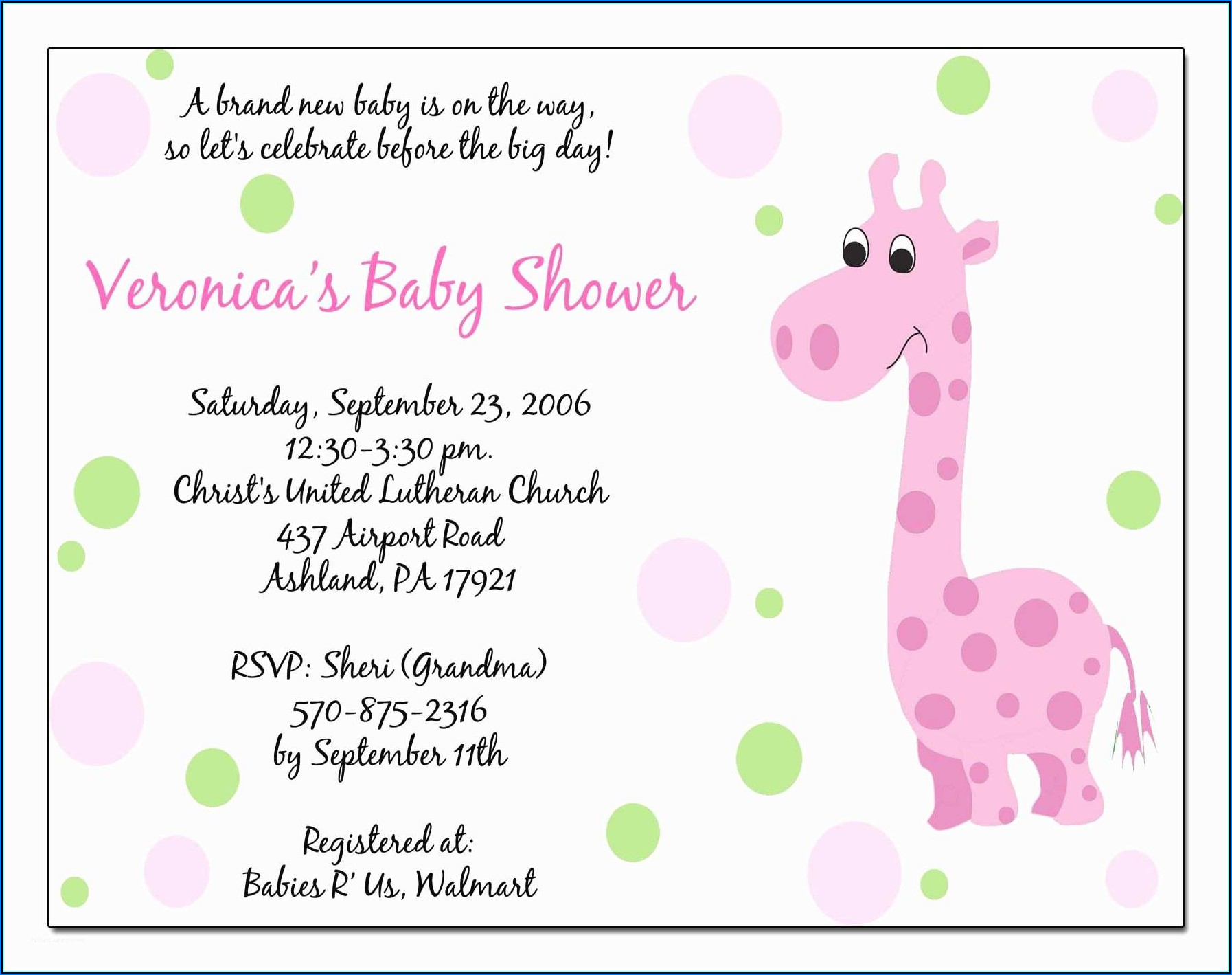 Baby Girl Baby Shower Invitations Templates