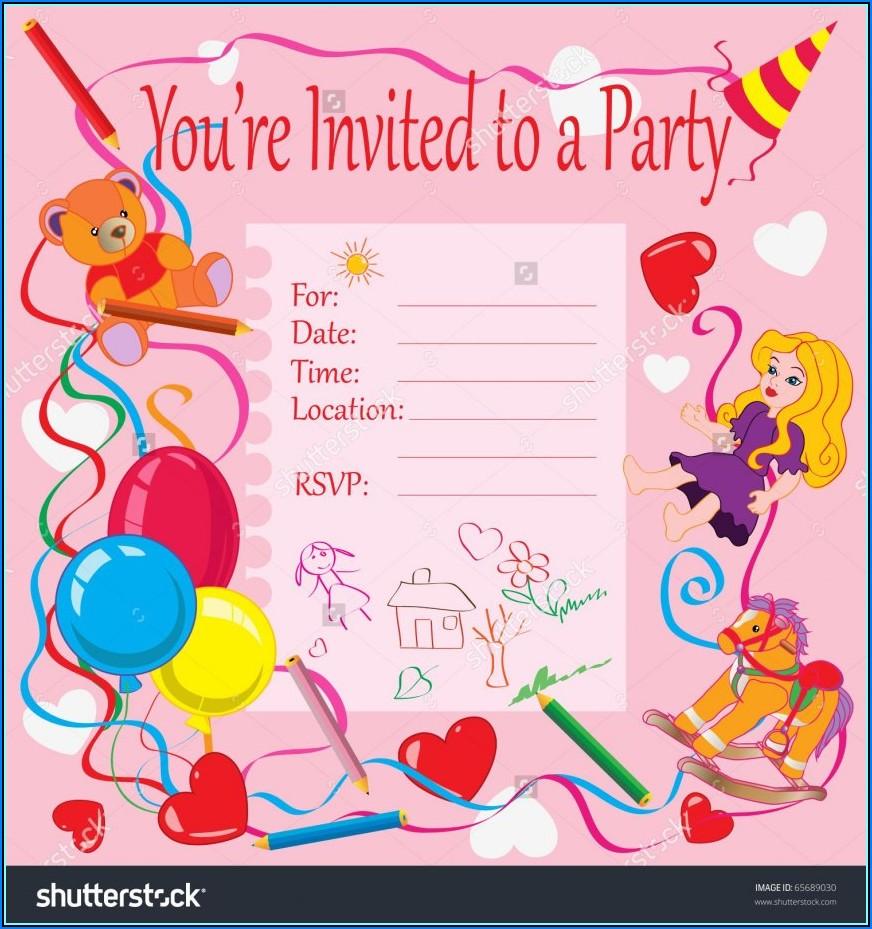 Birthday Party Invitation Cards Printable