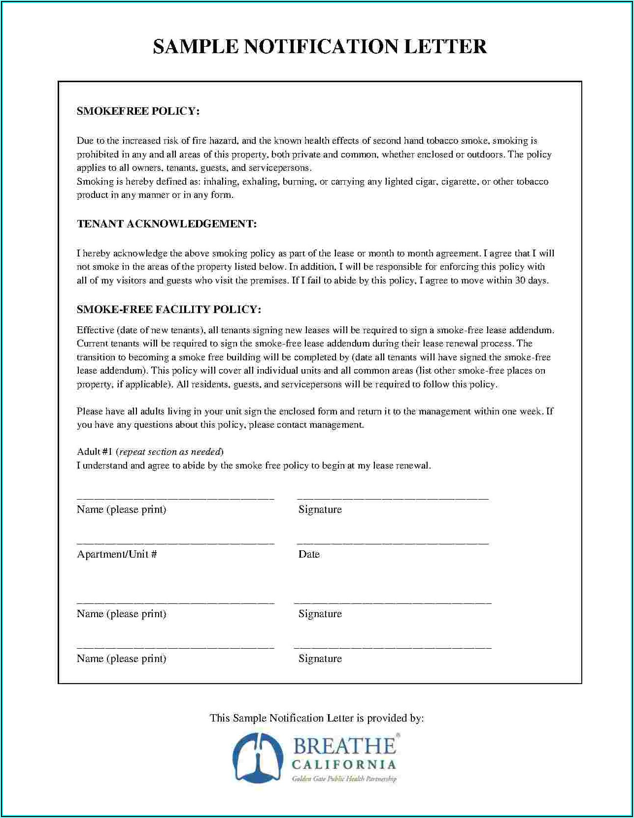 Blank Lease Renewal Forms
