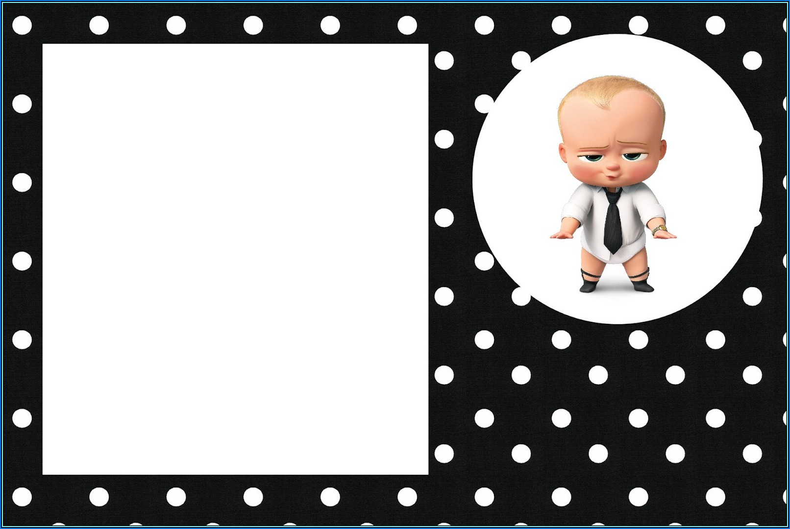 Boss Baby Girl Baby Shower Invitation Template