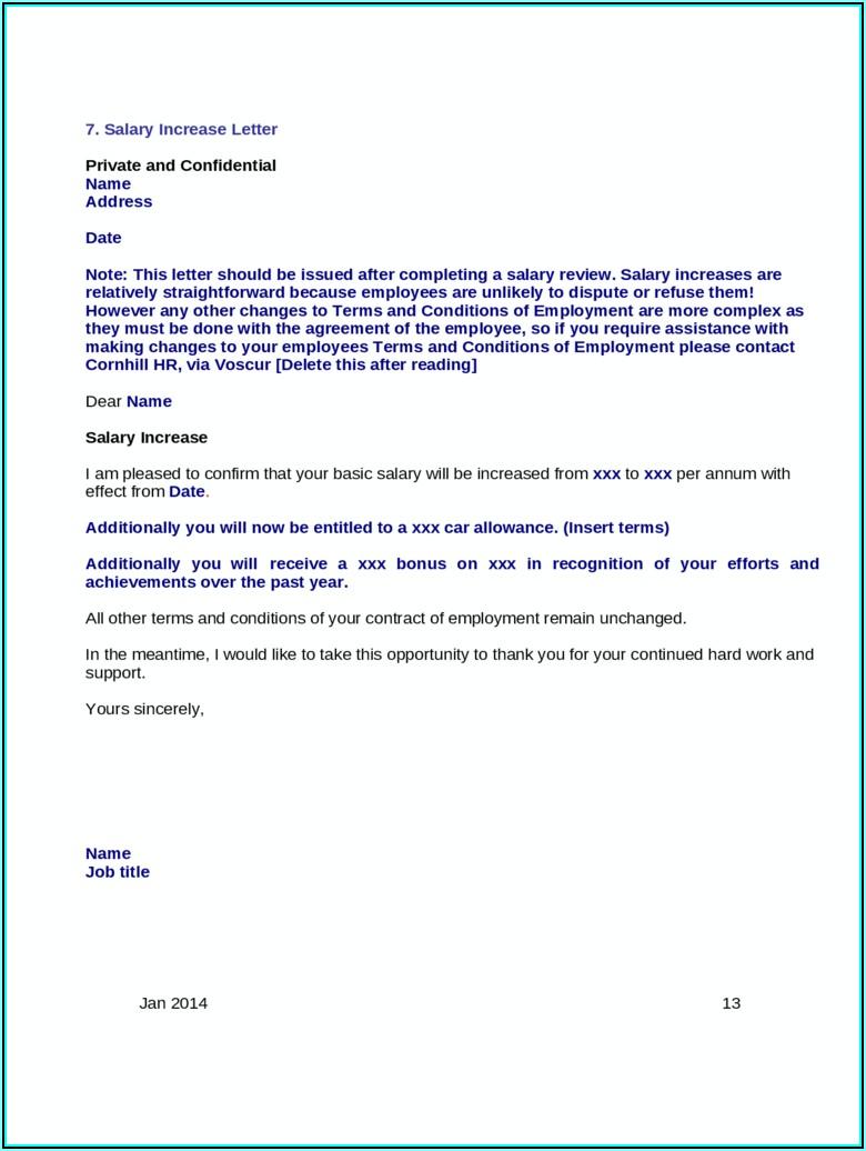 Car Allowance Letter Format