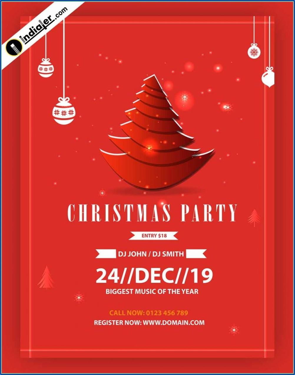 Christmas Party Invitation Template Printable