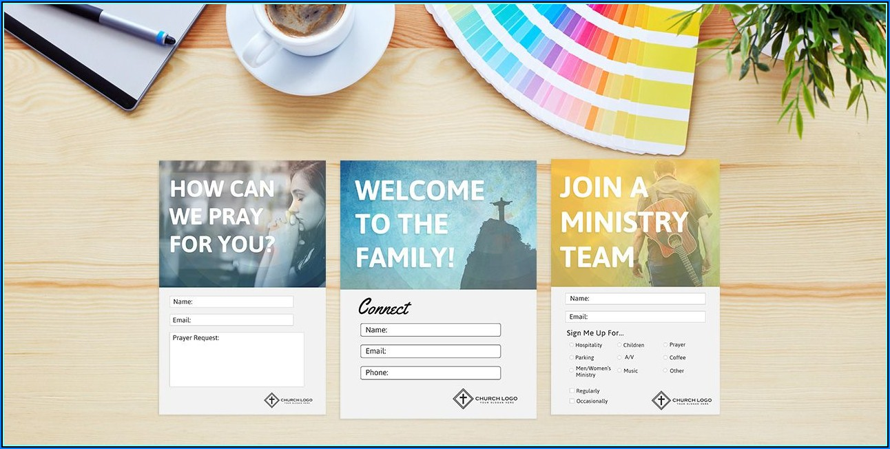 Church Visitor Cards Templates Free
