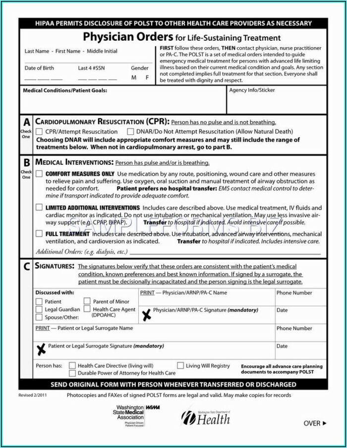 Colorado Medical Durable Power Of Attorney Form
