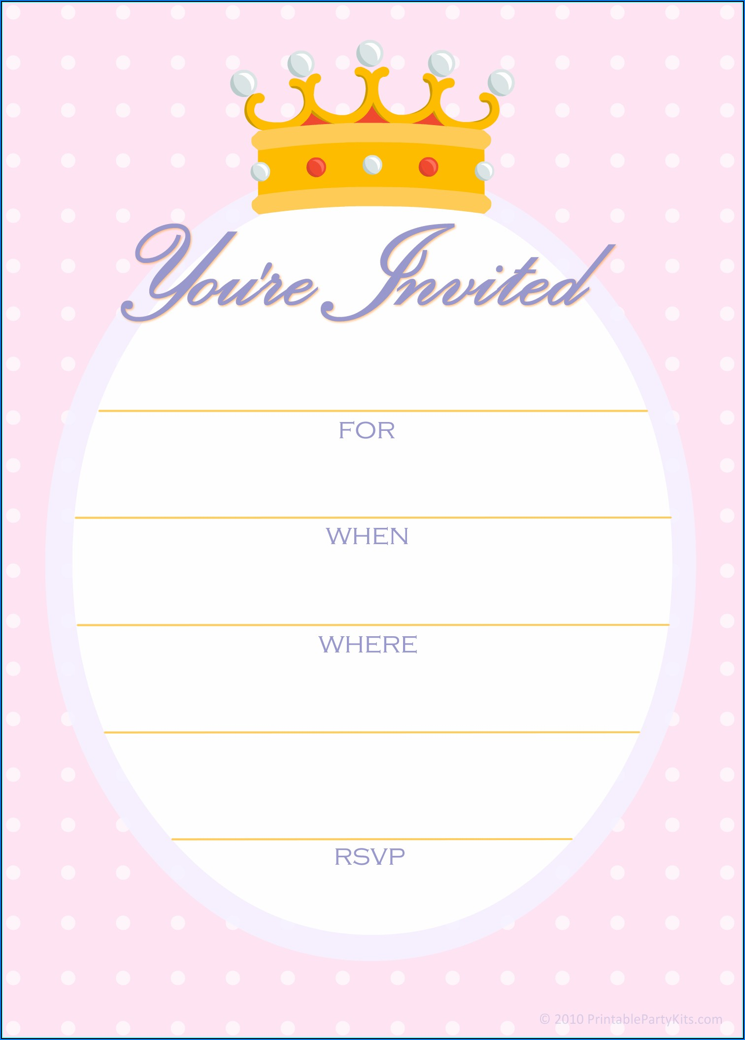 Crown Invite Template Free