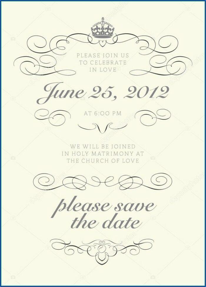 Crown Wedding Invitation Template