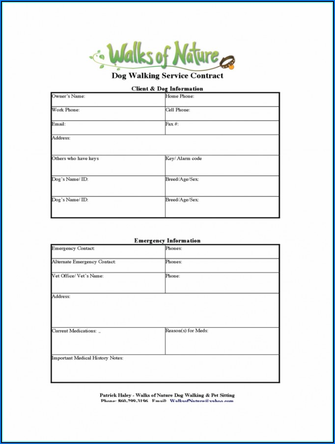 Dog Walking Agreement Template Uk