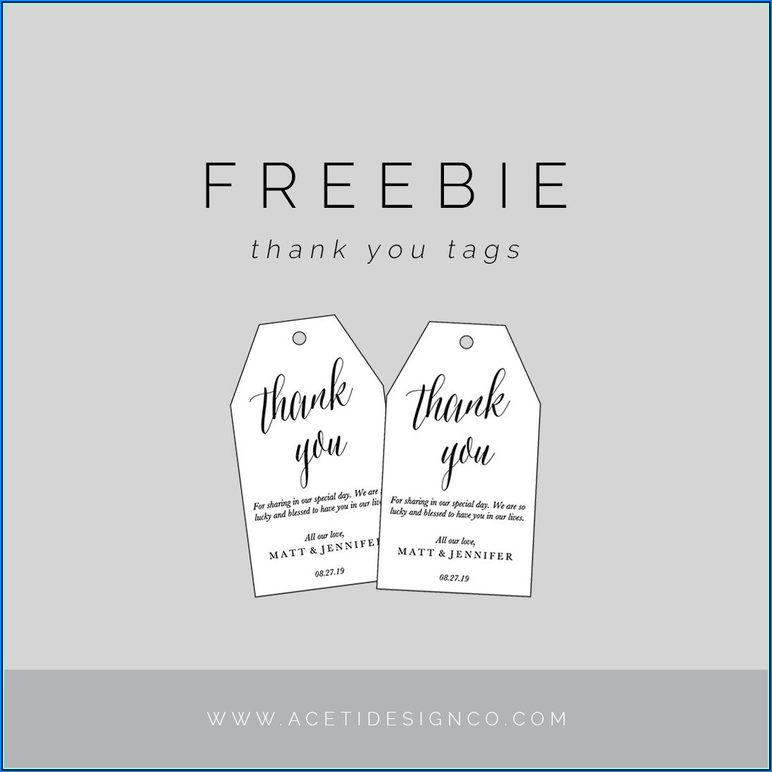 Editable Free Printable Wedding Favor Tags Template