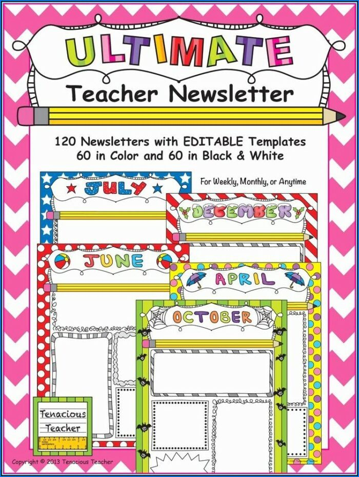 Editable Newsletter Templates Free