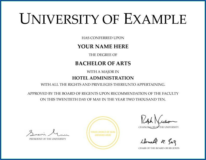 Fake Medical Degree Certificate Template