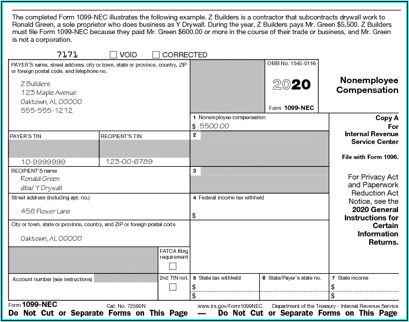 Fillable Form 1099 For 2019