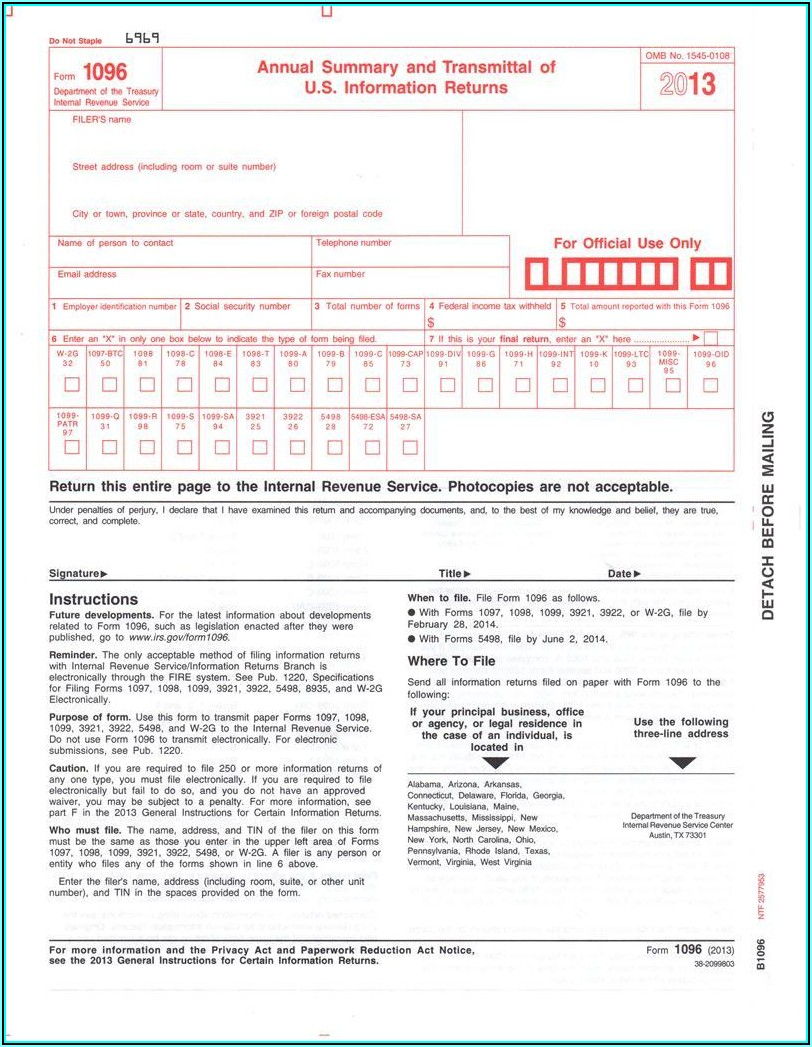 Fillable Form 1099 R