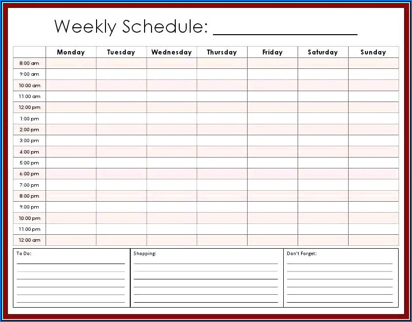 Free Appointment Calendar Template 2019