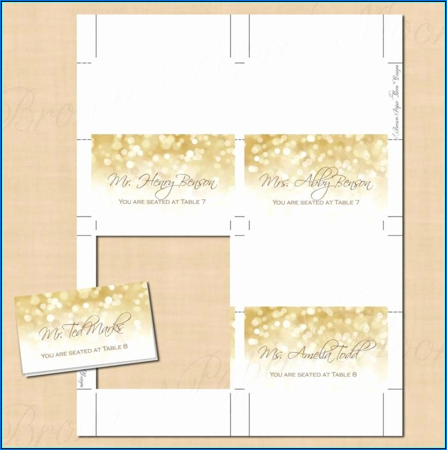 Free Avery Tent Card Templates
