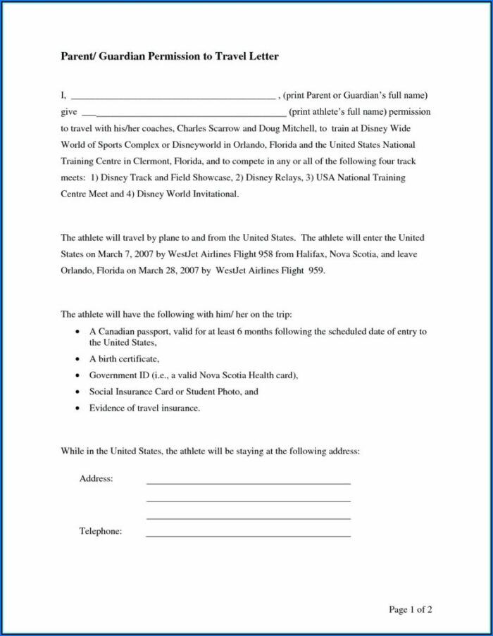 Free Child Medical Consent Template