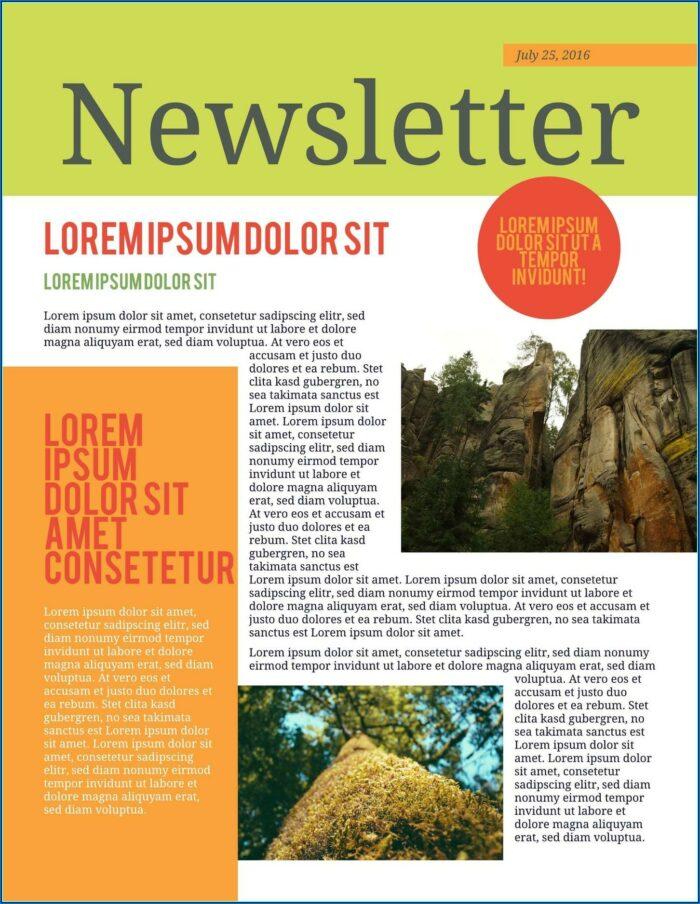 Free Editable Employee Newsletter Templates