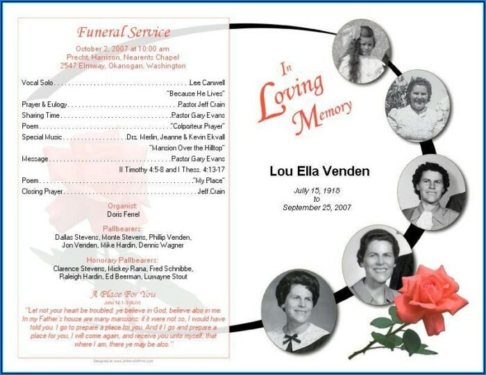 Free Funeral Programs Templates