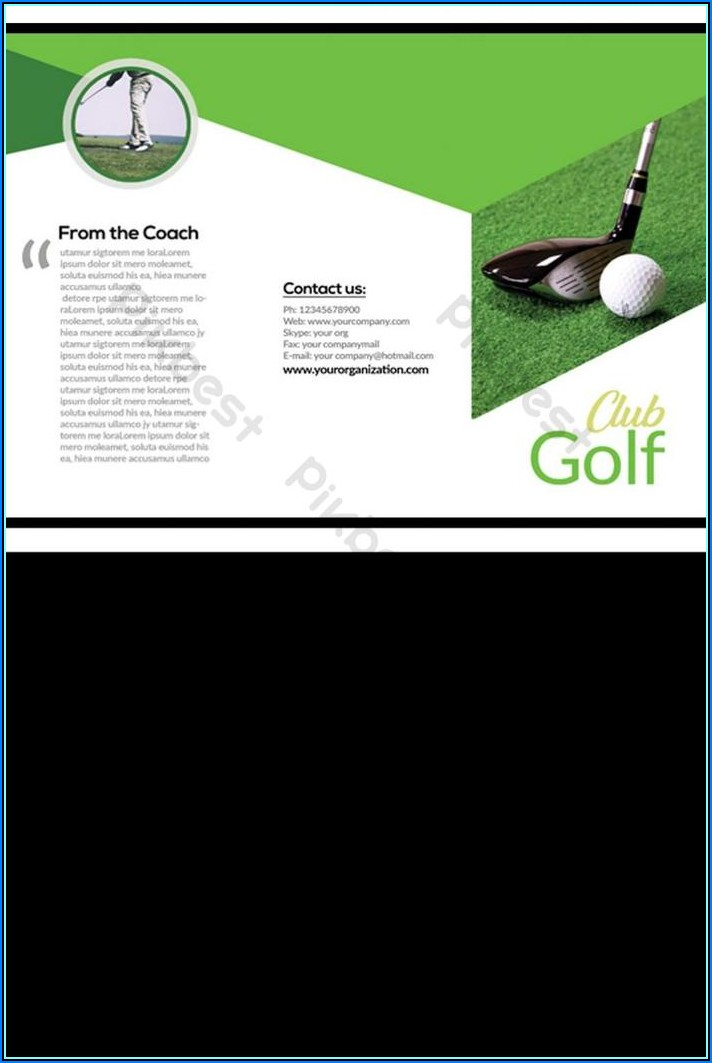 Free Golf Brochure Templates