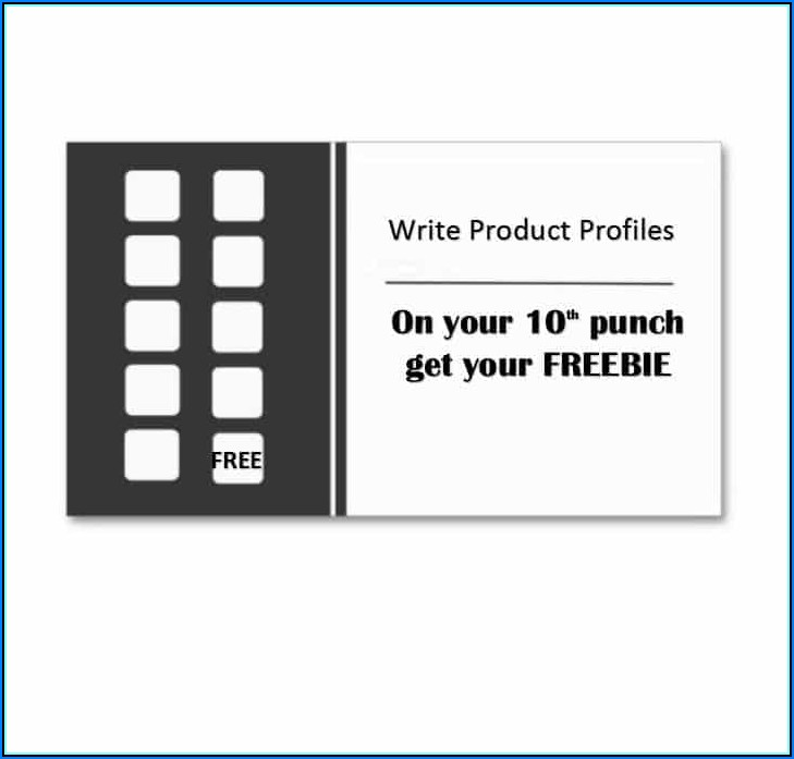 Free Hole Punch Card Templates