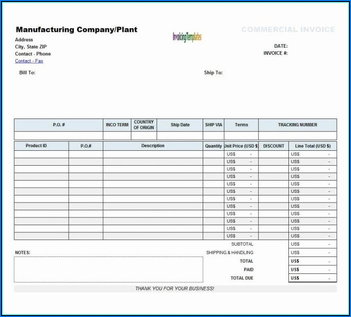 Free Microsoft Excel Invoice Templates