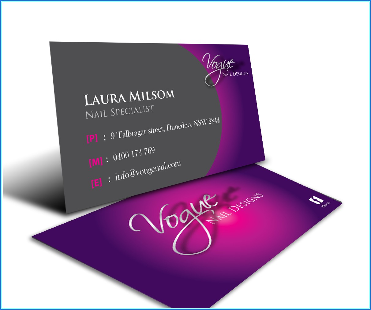Free Nail Technician Business Card Templates