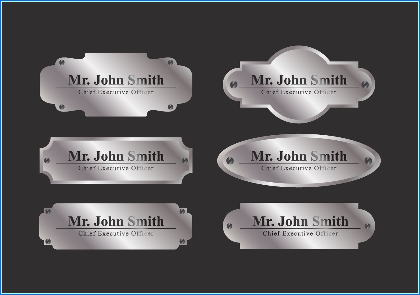 Free Office Door Name Plate Template