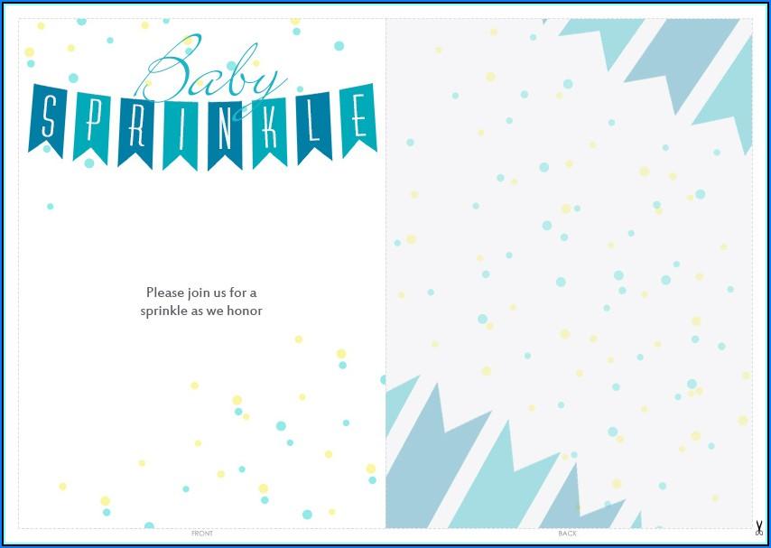 Free Printable Baby Sprinkle Invitations Templates