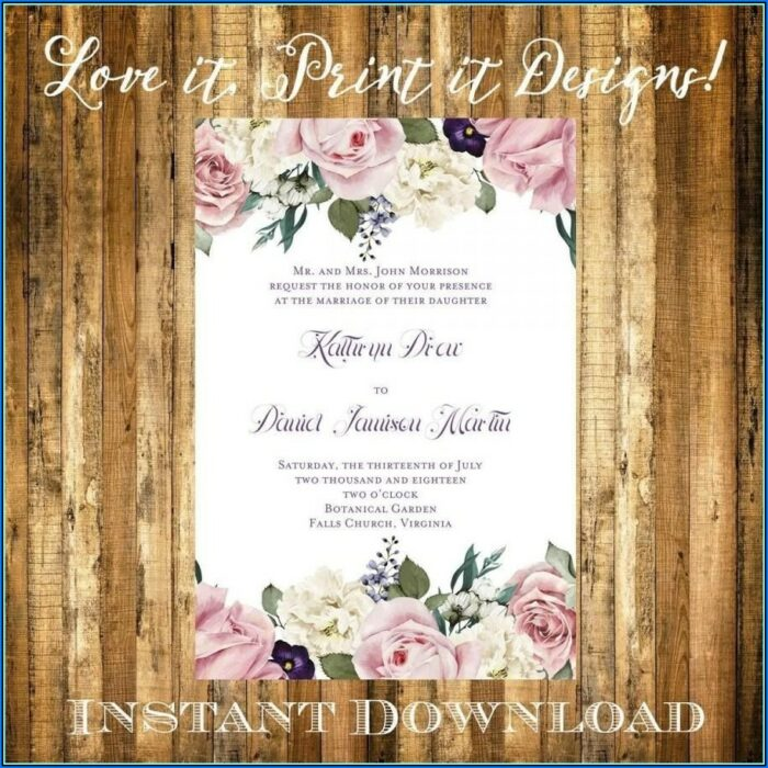 Free Printable Bridal Shower Invitation Templates Download