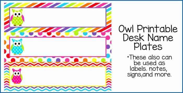 Free Printable Door Name Plate Template