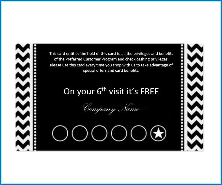 Free Punch Card Templates